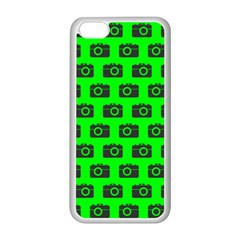 Modern Chic Vector Camera Illustration Pattern Apple Iphone 5c Seamless Case (white) by creativemom