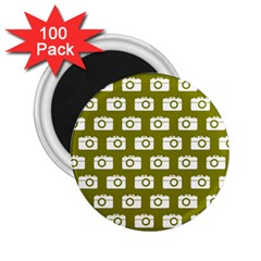 Modern Chic Vector Camera Illustration Pattern 2.25  Magnets (100 pack)  by creativemom
