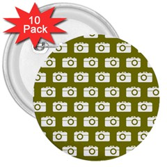 Modern Chic Vector Camera Illustration Pattern 3  Buttons (10 Pack)  by creativemom