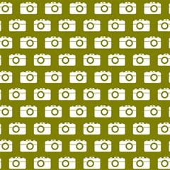Modern Chic Vector Camera Illustration Pattern Magic Photo Cubes by creativemom