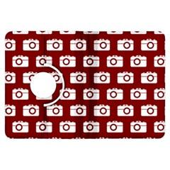 Modern Chic Vector Camera Illustration Pattern Kindle Fire Hdx Flip 360 Case by creativemom