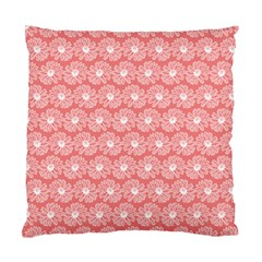 Coral Pink Gerbera Daisy Vector Tile Pattern Standard Cushion Cases (two Sides)  by creativemom