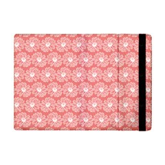 Coral Pink Gerbera Daisy Vector Tile Pattern iPad Mini 2 Flip Cases by creativemom