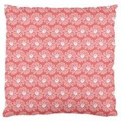 Coral Pink Gerbera Daisy Vector Tile Pattern Standard Flano Cushion Cases (one Side)  by creativemom
