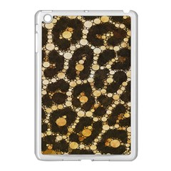 Brown Cheetah Abstract Pattern  Apple iPad Mini Case (White) by OCDesignss