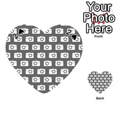 Modern Chic Vector Camera Illustration Pattern Playing Cards 54 (Heart)  by creativemom