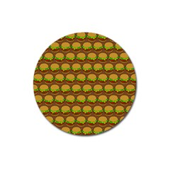 Burger Snadwich Food Tile Pattern Magnet 3  (Round) by creativemom