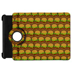 Burger Snadwich Food Tile Pattern Kindle Fire HD Flip 360 Case by creativemom