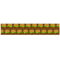 Burger Snadwich Food Tile Pattern Flano Scarf (large)  by creativemom