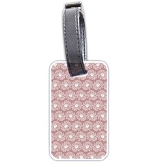 Gerbera Daisy Vector Tile Pattern Luggage Tags (one Side)  by creativemom