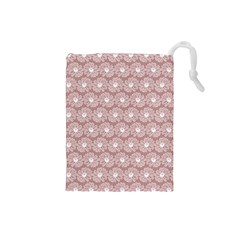 Gerbera Daisy Vector Tile Pattern Drawstring Pouches (small)  by creativemom