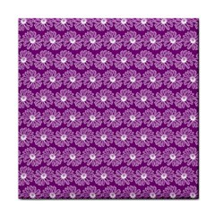 Gerbera Daisy Vector Tile Pattern Tile Coasters by creativemom
