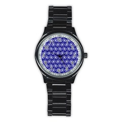 Gerbera Daisy Vector Tile Pattern Stainless Steel Round Watches by creativemom