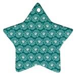 Gerbera Daisy Vector Tile Pattern Ornament (Star)