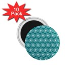 Gerbera Daisy Vector Tile Pattern 1.75  Magnets (10 pack)