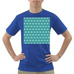 Gerbera Daisy Vector Tile Pattern Dark T-Shirt