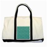 Gerbera Daisy Vector Tile Pattern Two Tone Tote Bag