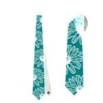 Gerbera Daisy Vector Tile Pattern Neckties (Two Side)
