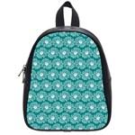Gerbera Daisy Vector Tile Pattern School Bags (Small)