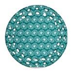 Gerbera Daisy Vector Tile Pattern Ornament (Round Filigree)