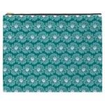 Gerbera Daisy Vector Tile Pattern Cosmetic Bag (XXXL)