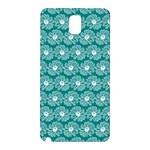 Gerbera Daisy Vector Tile Pattern Samsung Galaxy Note 3 N9005 Hardshell Back Case