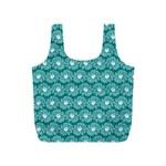 Gerbera Daisy Vector Tile Pattern Full Print Recycle Bags (S)