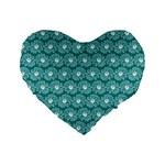 Gerbera Daisy Vector Tile Pattern Standard 16  Premium Flano Heart Shape Cushions