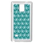 Gerbera Daisy Vector Tile Pattern Samsung Galaxy Note 4 Case (White)