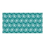 Gerbera Daisy Vector Tile Pattern Satin Wrap