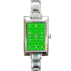 Gerbera Daisy Vector Tile Pattern Rectangle Italian Charm Watches by creativemom
