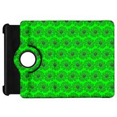 Gerbera Daisy Vector Tile Pattern Kindle Fire Hd Flip 360 Case by creativemom