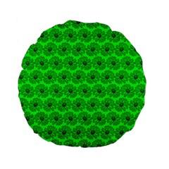 Gerbera Daisy Vector Tile Pattern Standard 15  Premium Flano Round Cushions