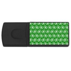 Gerbera Daisy Vector Tile Pattern Usb Flash Drive Rectangular (4 Gb)  by creativemom