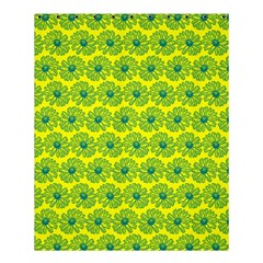 Gerbera Daisy Vector Tile Pattern Shower Curtain 60  x 72  (Medium)
