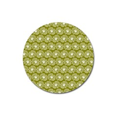 Gerbera Daisy Vector Tile Pattern Magnet 3  (round) by creativemom