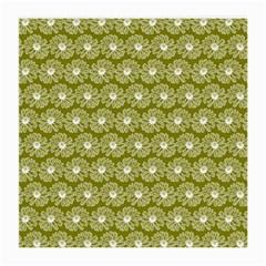 Gerbera Daisy Vector Tile Pattern Medium Glasses Cloth by creativemom