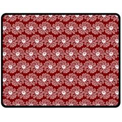 Gerbera Daisy Vector Tile Pattern Double Sided Fleece Blanket (medium)