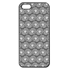 Gerbera Daisy Vector Tile Pattern Apple Iphone 5 Seamless Case (black) by creativemom