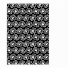 Black And White Gerbera Daisy Vector Tile Pattern Small Garden Flag (Two Sides) by creativemom