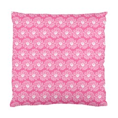Pink Gerbera Daisy Vector Tile Pattern Standard Cushion Case (one Side)  by creativemom