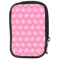Pink Gerbera Daisy Vector Tile Pattern Compact Camera Cases by creativemom