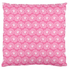 Pink Gerbera Daisy Vector Tile Pattern Standard Flano Cushion Cases (one Side)  by creativemom