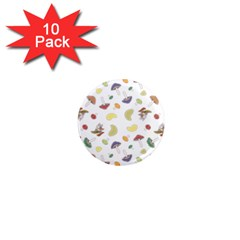 Mushrooms Pattern 1  Mini Magnet (10 pack)  by Famous