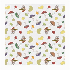 Mushrooms Pattern Medium Glasses Cloth (2-Side) by Famous