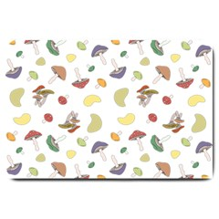Mushrooms Pattern Large Doormat  by Famous