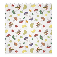 Mushrooms Pattern Shower Curtain 66  x 72  (Large)  by Famous