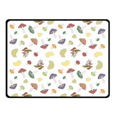 Mushrooms Pattern Double Sided Fleece Blanket (Small)  by Famous