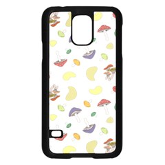 Mushrooms Pattern Samsung Galaxy S5 Case (black) by Famous