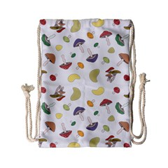 Mushrooms Pattern Drawstring Bag (small) by Famous